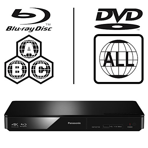 51AEP9ppY3L. SS500  - Panasonic DMP-BDT170EB Smart 3D 4K Upscaling ICOS Multi Region All Zone Code Free Blu-ray Player. Blu-ray regions A, B…