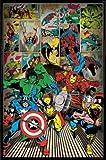 Marvel Comics Poster et Cadre (Plastique) - Super-Héros (91 x 61cm)