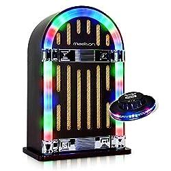 Jukebox Vintage autonom mit Bluetooth-Madison Jukebox10+ Lichtorgel Ovni RGB.