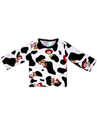 Sofie & Sam London, Baby Full Sleeves Tee/Top/T-Shirts made from Organic Cotton for 9 to 12 Months, Cow Boy
