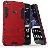 Huawei P8 Lite 2017 Hülle,AyiHuan [Outdoor] [Fallschutz] [Dual Layer] Ultra-dünne Bumper und Stoßfest Schutzhülle Case Cover mit Ständer für Huawei P8 Lite 2017 5.2 Zoll ?Nicht geeignet Huawei P8 lite 5 Zoll 2015?,Rot