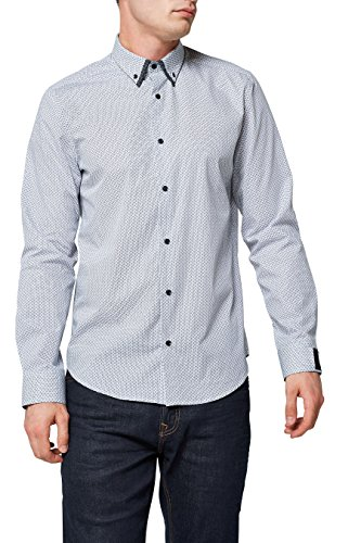 next Herren Hemd mit Doppelkragen Regular Weiß