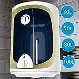 Elektro Warmwasserspeicher mit 30,50,80,100 Liter Speicher, 1500W Heizleistung und Thermometer I Boiler I Wasserboiler I Warmwasserboiler (80L)