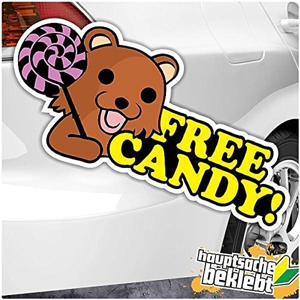 Free Candy Pedobär Kuma Japan In 4 Größen Erhältlich Aufkleber Mehrfarbig Sticker Decal Auto