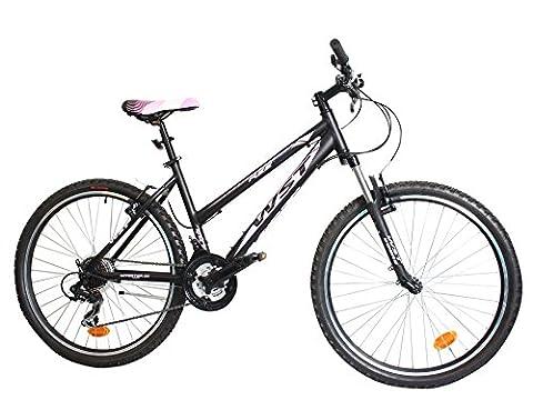 WST BTT Cosmo Fahrrad MTB, Damen, Schwarz/Pink, 26