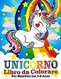 Unicorno Libro da Colorare per Bambini dai 4-8 Anni