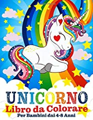 Idea Regalo - Unicorno Libro da Colorare per Bambini dai 4-8 Anni