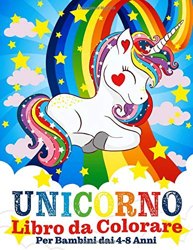 Unicorno Libro da Colorare per Bambini dai 4-8