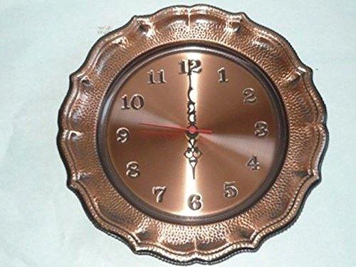 Horloge murale en cuivre poli à quartz 28 cm