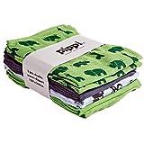 PIPPI 8er Pack Mullwindeln Spucktücher grün grau thumbnail