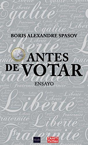 1 euro antes de votar: Ensayo político