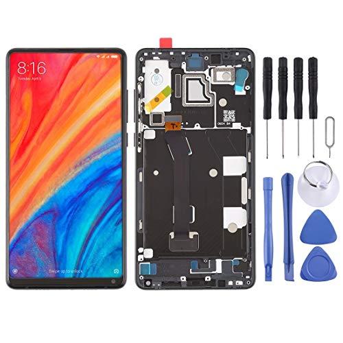 Uj Escudo LCD Kit de reemplazo de Pantalla Pantalla LCD y Conjunto Completo de digitalizador con Marco for Xiaomi MI Mix 2S (Negro) (Color : Black)