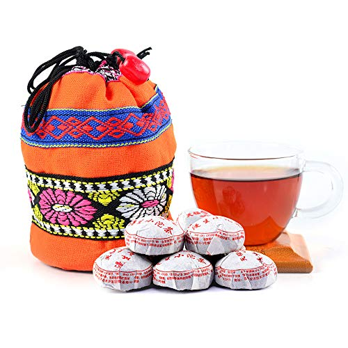 Pu-erh Tea - Yunnan Pu-erh Tea - Mini Tuo Cha Bird Nest Pressed Chinese Puer Tea 180g with Cloth Bag