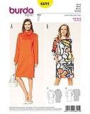 Burda 6691 Schnittmuster Kleid (Damen, Gr. 36 - 48) Level 2 leicht