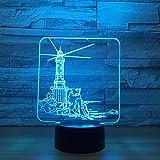 Leuchtturm Modell 3D Led Nachtlicht 7 Farbwechsel Stimmungslampe Usb 3D Illusion Tischlampe Für Zuhause Dekoratives Valentinstag Geschenk