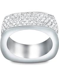 Swarovski Damen-Ring Metall Swarovski-Kristall weiß  50171