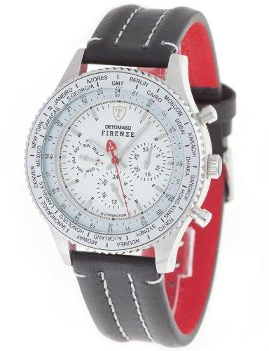 DeTomaso Men's Quartz Watch Firenze Silber Zifferblatt DT1023-C with Leather Strap