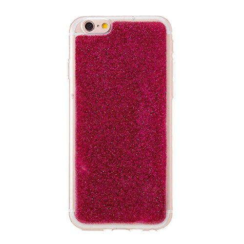 EKINHUI Case Cover Ultra Thin Slim Weiche Flexible Silikon TPU Gel Cover Case [Anti-Kratzer] Bling Glitter 360 ° Full Coverage Back Cover [Shockproof] für iPhone 6 & 6s ( Color : Red ) Red