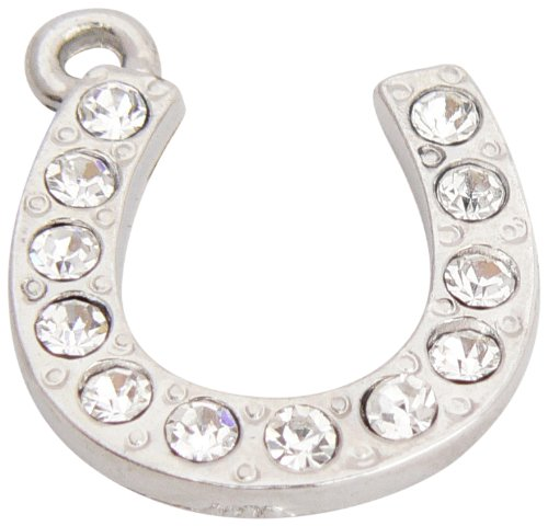 Charmsupplies - Horseshoe-shaped ornament pendant with inset crystals