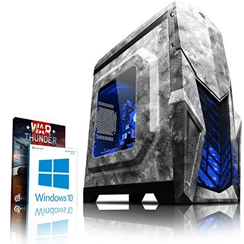 VIBOX Reptile GS570-45 Gaming PC Computer mit War Thunder Spiel Bundle, Windows 10 OS (4,0GHz Intel i5 6-Core Prozessor, Nvidia GeForce GTX 1070 Grafikkarte, 16Go DDR4 2133MHz RAM, 120GB SSD, 1TB HDD)