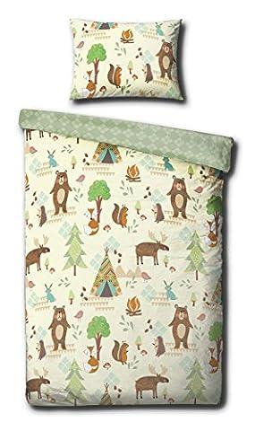 Yellowstone Animals Junior Duvet Cover Set - 120cm x 150cm