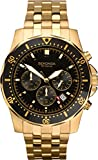 Sekonda Men's Quartz Watch with Black Dial Chronograph Display and Gold Stainless Steel Gold Plated Bracelet 1001.27