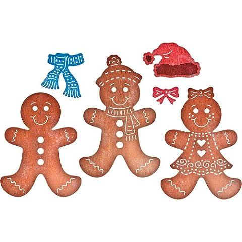 Cheery lynn metal cutting Die set gingerbread man family girl B607