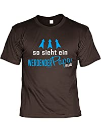 Geschenkidee für werdende Väter T-Shirt zur Geburt Baby SO SIEHT EIN WERDENDER PAPA AUS Papa Geburtsvorbereitung bald Vater Glückwunsch Print Shirt : )
