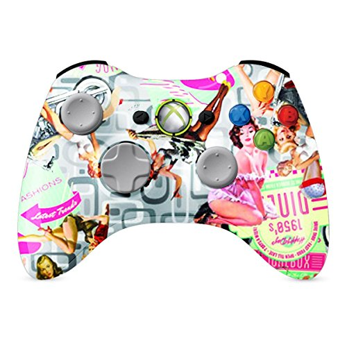 XBOX 360 Regler Wireless-Glossy Pinup Mädchen Individuelle Painted- ohne Mods (Xbox Blau 360 Mod Controller)