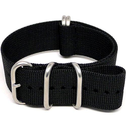 daluca-ballistic-nylon-nato-watch-strap-black-matte-buckle-24mm