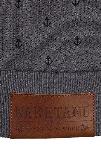 Naketano Brazzo Ankerdizzel III W sweat zippé à capuche Dark Grey Melange