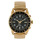 Verbalise Herren Deluxe Range Global Funkgesteuerte sprechende Armbanduhr mit erweiterbarem Band, goldfarben