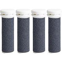 4 x Roller Súper Áspero - Golden Blue Micro Mineral - Compatible con Emjoi Micro Pedi - Roller para el cuidado de Pies con Piel desgastada
