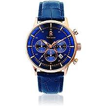 Pierre Lannier - 225D466 - Elegance Chrono - Montre Homme - Quartz Chronographe - Cadran Bleu - Bracelet Cuir Bleu