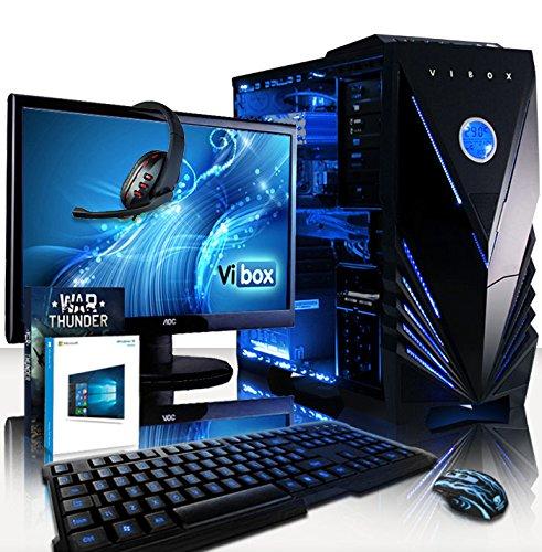 VIBOX Warrior Komplett-PC Paket 4XW Gaming PC - 4,1GHz AMD FX 6-Core CPU, RX 460 GPU, leistungsfähig, Desktop Gamer Computer mit Spielgutschein, 22