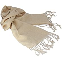 De alpaca Bufanda lana, teñidos Naturalmente, para hombres y femmes. gama de colores. Crema talla única