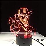 Red Dead Redemption3D Lampe de Table Enfants Adulte LED Coloré Tactile Lampe Chambre Télécommande Nuit Lumineux Jeu Jouets AW-37