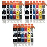 Go Inks C-550 & C-551 Cartouches d'encre Compatible pour remplacer Canon PGI-550 & CLI-551 pour une utilisation avec les imprimantes Canon PIXMA (Lot de 18)