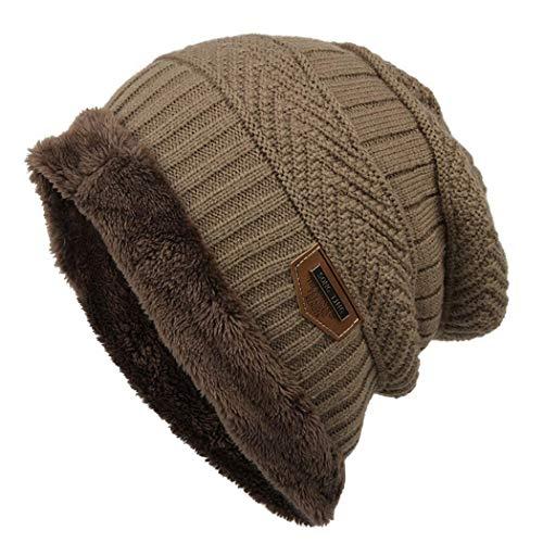 Gorro de Invierno Unisex Sombrero de Punto de Lana Caliente Sombreros de Esquí al Aire Libre Beanie para Hombre Mujer
