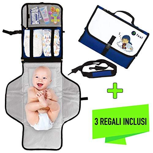 Fasciatoio portatile pieghevole -ufeel- prima infanzia - regalo neonato - cambio pannolino bambino - carrozzina neonati - materassino cuscino imbottito