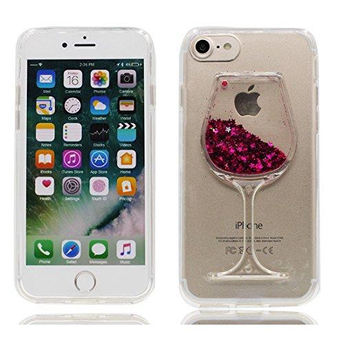 EarthNanLiuPowerTu iPhone 6S Plus hülle, [Kelch Weingläser] Flüssigkeit schwimmt Fließende Bling...