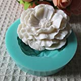 1PC 3D Mini-Pfingstrose Form Silikon Kuchen Schokoladenform Fondant By +ing