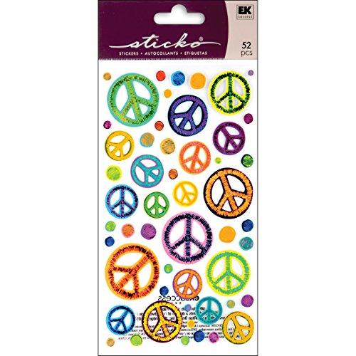 Unbekannt Sticko Sketchy Peace Signs Aufkleber (Sign Aufkleber)
