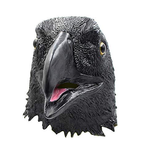 Halloween Latex Maske Lustige Adler Volles Gesicht Maske Tierkopf Cosplay Neuheit Masquerade Kostüm Partei Requisiten Rolle Spiel Spielzeug Für Erwachsene,Black