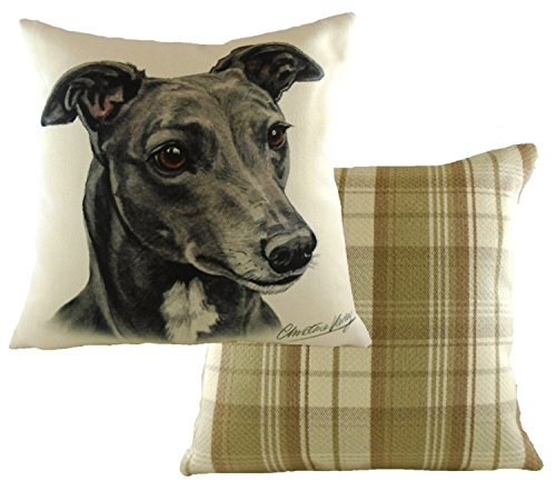 waggydogz-gris-greyhound-boston-check-funda-para-cojn-vendido-y-enviado-por-katie-malone-house-home