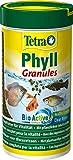 TetraPhyll Granules (Hauptfutter in Granulatform für alle pflanzenfressenden Zierfische, mit lebenswichtigen Ballaststoffen plus plus Präbiotika), 250 ml Dose