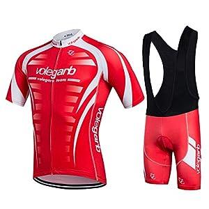 Abbigliamento estivo da ciclismo Feilaxleer per uomo e donna - Un set di maglia da ciclista Maillot e pantaloncini Culotte