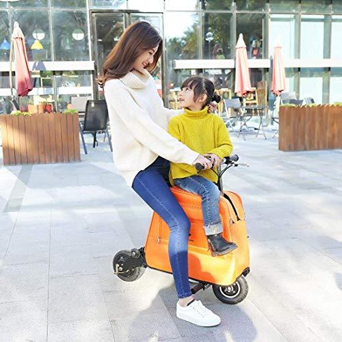 Lunzi Scooter elettrico pieghevole per sedia a rotelle per mini auto elettrica per adulti per uomini e donne Scooter pieghevole per bagaglio per biciclette di piccole dimensioni con custodia, A, 25 ~