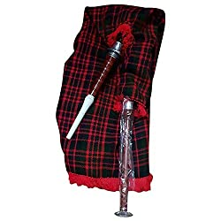 Tc Scottish Gans Praxis Dudelsack Braun Silber Halterungen Macdonald Tartan Tasche