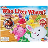 Ideal Who Lives Where Wooden Memory and Matching Game by Cadaco